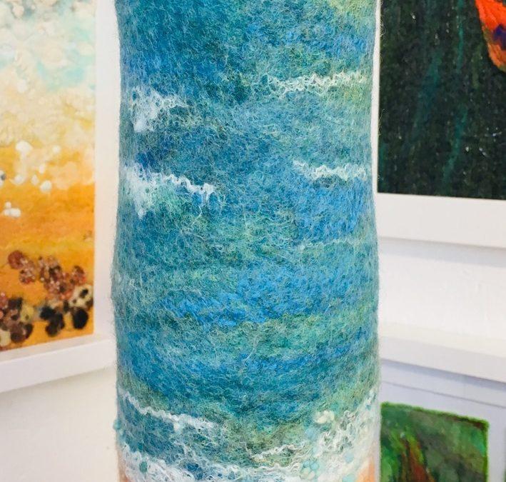 Felted vase – 'Logan Bay'