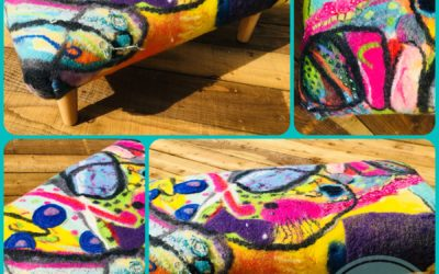 Outwitting the Fish footstool – SOLD