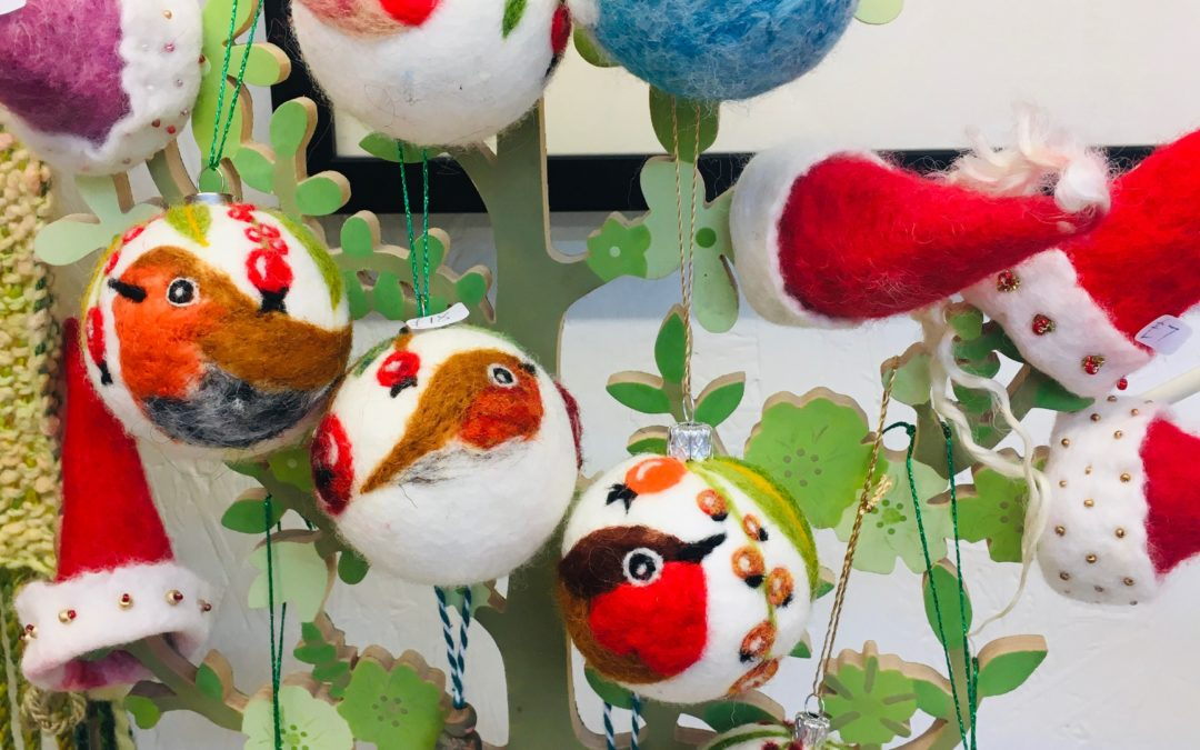 Robin baubles / tree ornaments