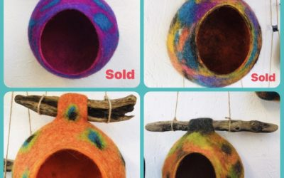 Felted Bird Feeders/Pods
