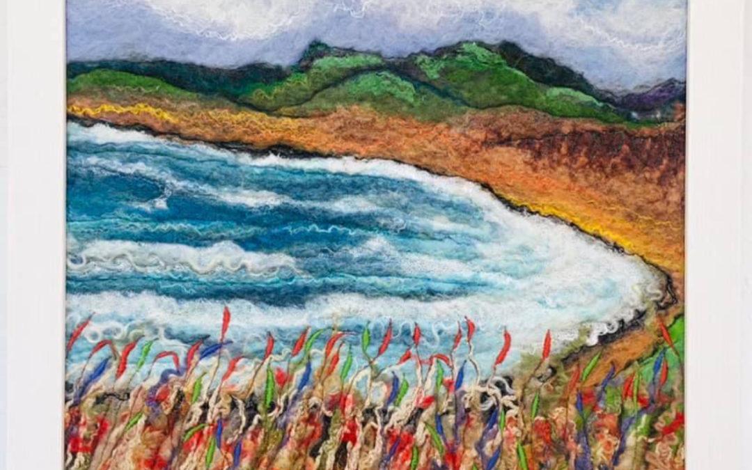 Felted Art – 'Ardwell Bay'
