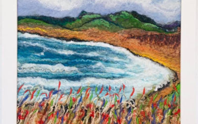 Felted Art – 'Ardwell Bay'