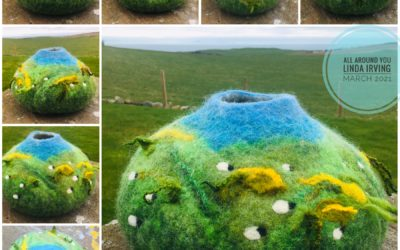 Felted Vessel – 'All Around You'