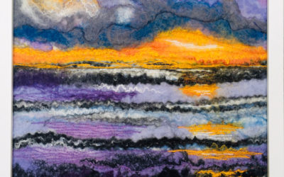 Felted Art – 'After the Rain'